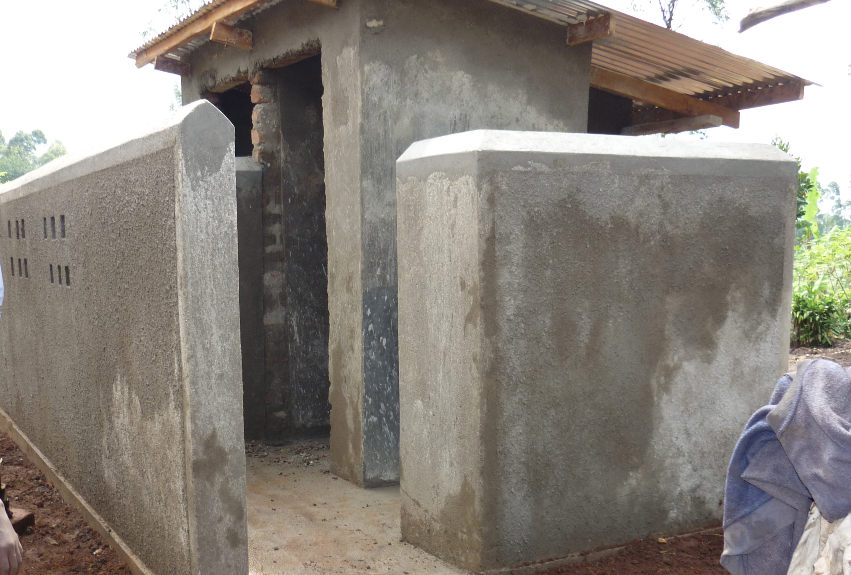 Pit Toilets Construction : Bricks and beds project love is the answer lita help