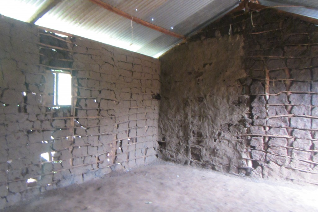 This room will now have the mud removed and turn into a 4th classroom at Canaan School.. on the same property as the new dorms.