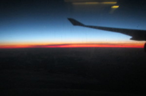 Morning's early light over Africa... ETA Uganda: 7:30am Jul 3, 2013