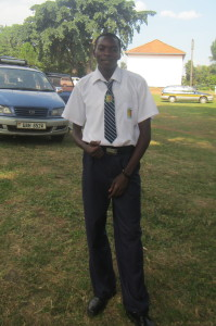 Benard took this photo of his 'brother' Silver, looking 'so smart' in his school uniform. All so very special and awesome in their ways, the three boys are learning volumes, growing, maturing.. a delight to see made possible by generous donors supporting their education.