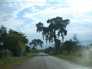 On the road to visit the children at the Mutufu project.
