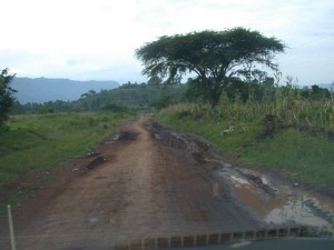 Rainy season has just begun but already the roads take great skill to navigate..