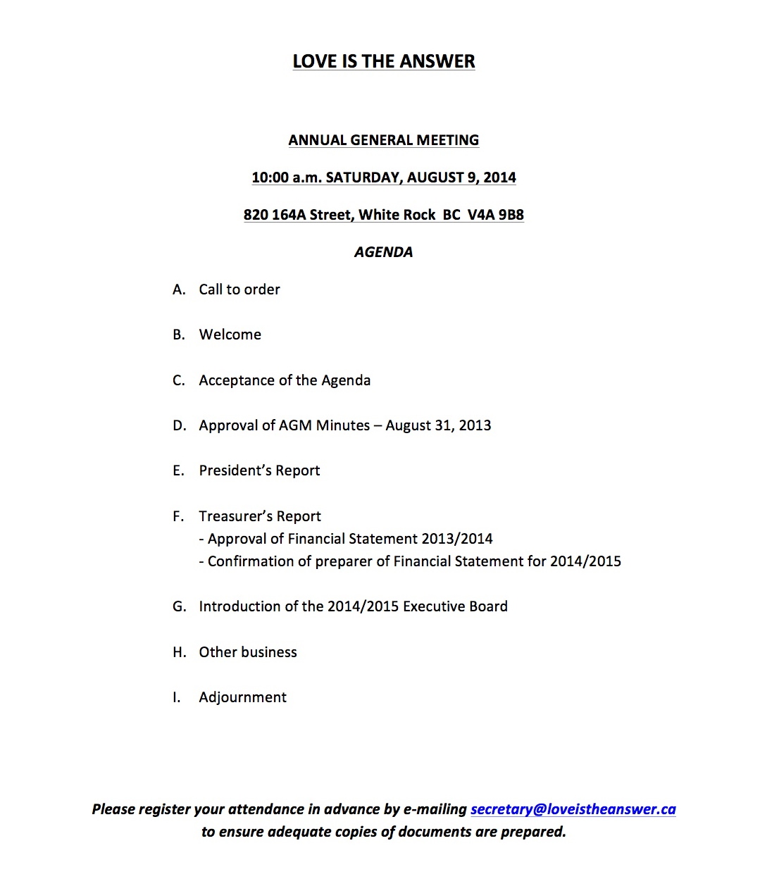 Litas annual general meeting aug 9 2014 love is the answer lita agm agenda august 9 2014 altavistaventures Image collections